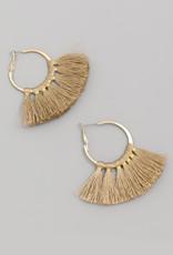 Tassle earrings brown