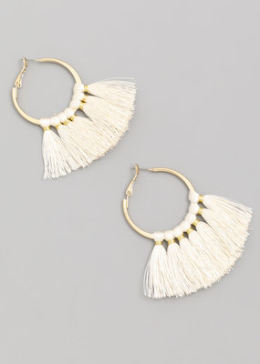 Tassle earrings natural