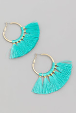 Tassle earrings turquoise
