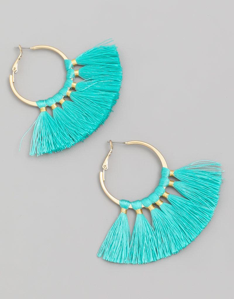 Tassle earrings turquoise