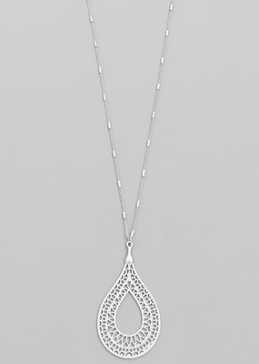 Teardrop metal necklace