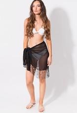 Short sarong with fringe