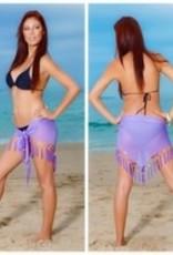Fringe Sarong W/Shells Purple