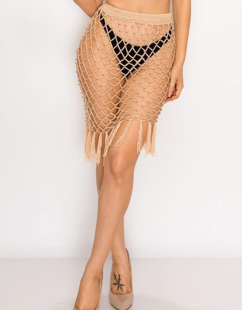 Crochet skirt with studs