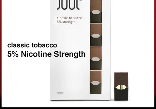 4 pack Juul Classic Tobacco 5% 0.7ml