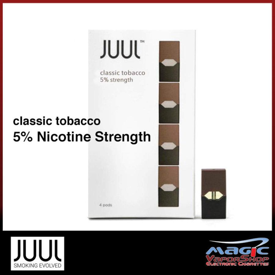 4 pack Juul Classic Tobacco 5% 0.7ml
