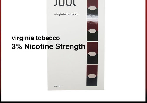 4 pack Juul Virginia Tobacco 3% 0.7ml