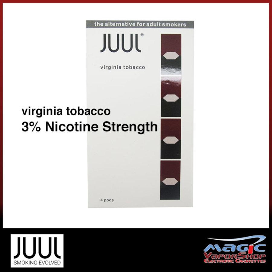 4 pack Juul Virginia Tobacco 3% 0.7ml
