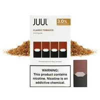 4 pack Juul Classic Tobacco 3% 0.7ml