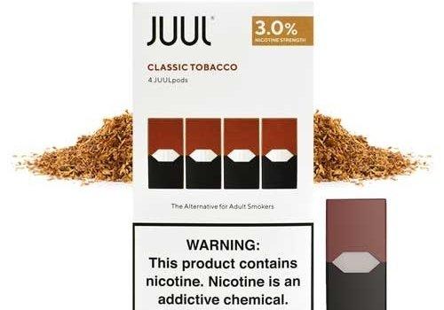 4 pack Juul Classic Tobacco 3% 0.7ml