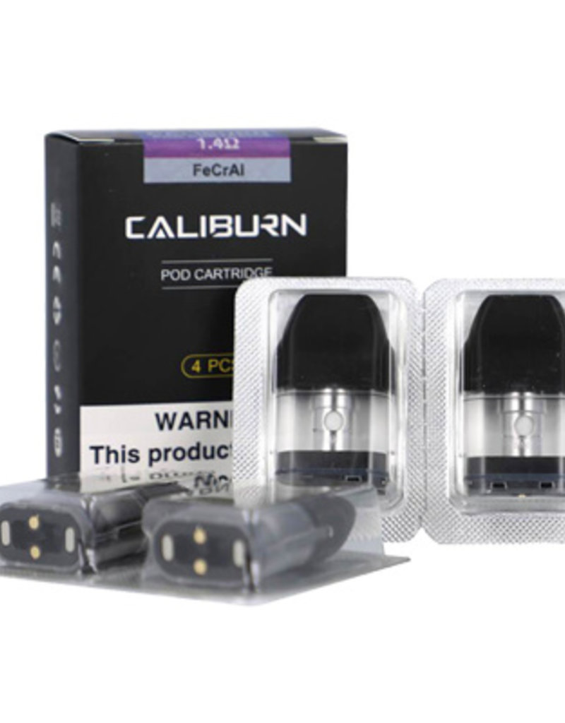 Uwell Caliburn Replacement Pods 1.4 ohm - 4 Pack