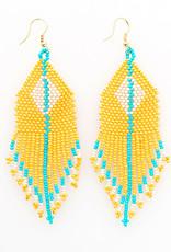 Ink+Alloy Seed Bead Fringe Earrings