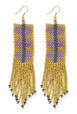 Ink+Alloy Long Seed Bead Fringe Earrings