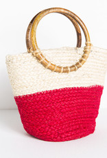 Ink+Alloy Jute Bag w/Mango Wood Handle