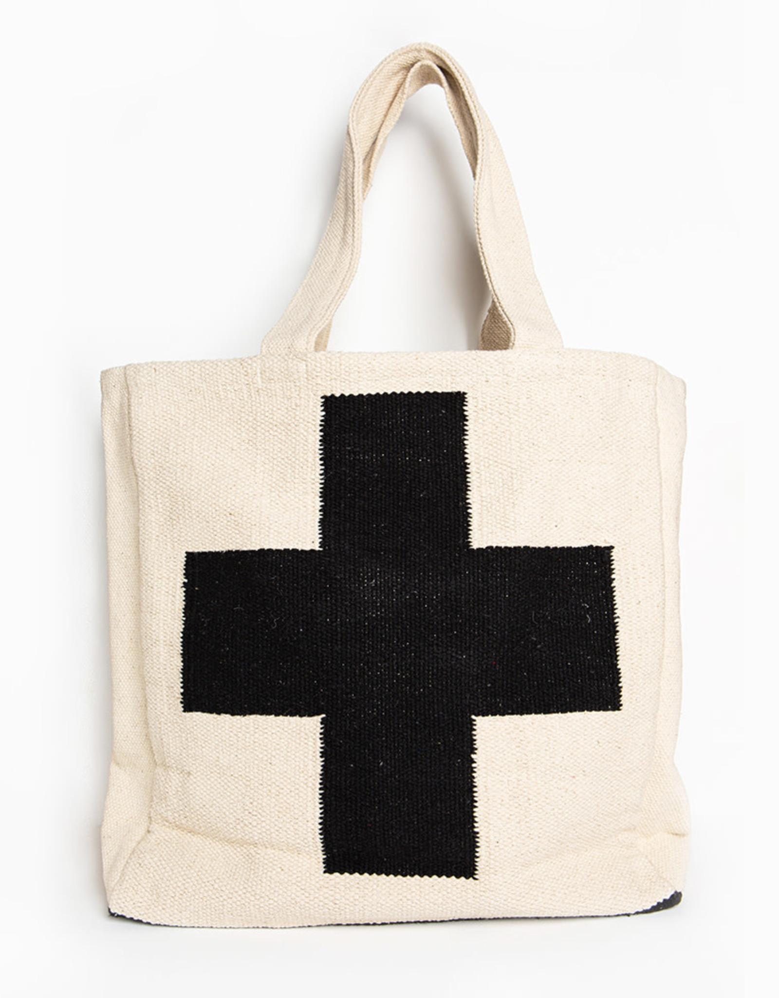 Ink+Alloy Handwoven Dhurrie Cross Bag