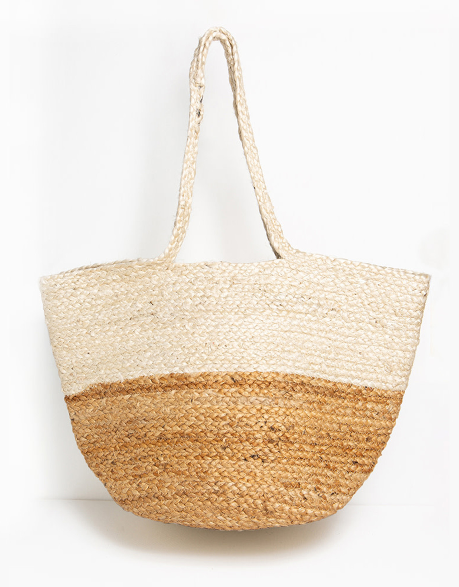 Ink+Alloy Handmade Jute Two Tone Tote