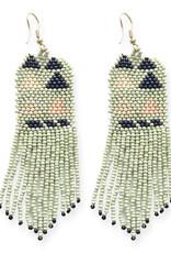 Ink+Alloy Multi Geo Seed Bead Earrings