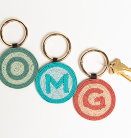 Ink+Alloy Beaded Initial Key Ring K-T