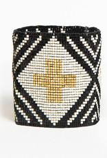 Ink+Alloy Wide Luxe Beaded Bracelet BW Set