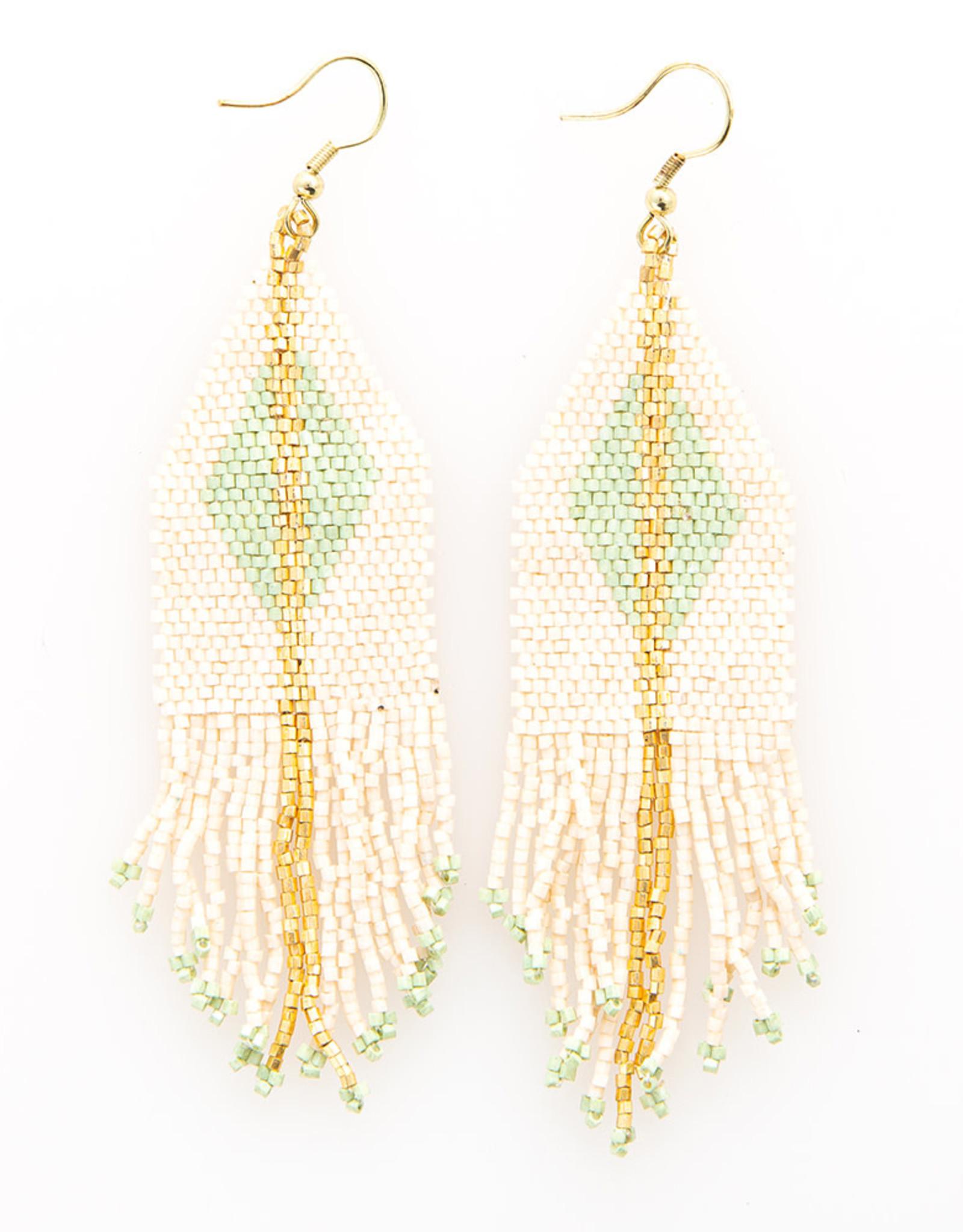 Ink+Alloy Luxe Metallic Bead Fringe Earrings