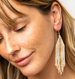 Ink+Alloy Luxe Metallic Bead Fringe Earrings