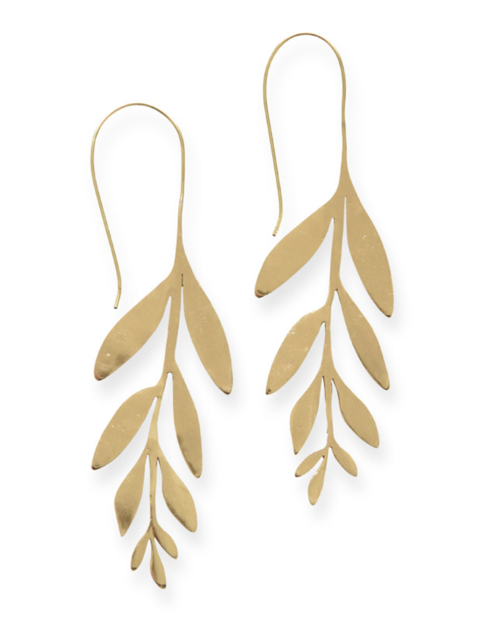 Ink+Alloy Handmade Brass Wisteria Earrings