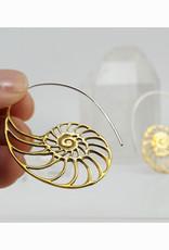 In BlissfulCo Handmade Shell Hoops