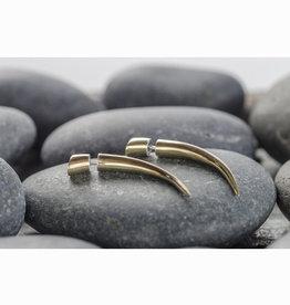 In BlissfulCo Brass Talon Earrings