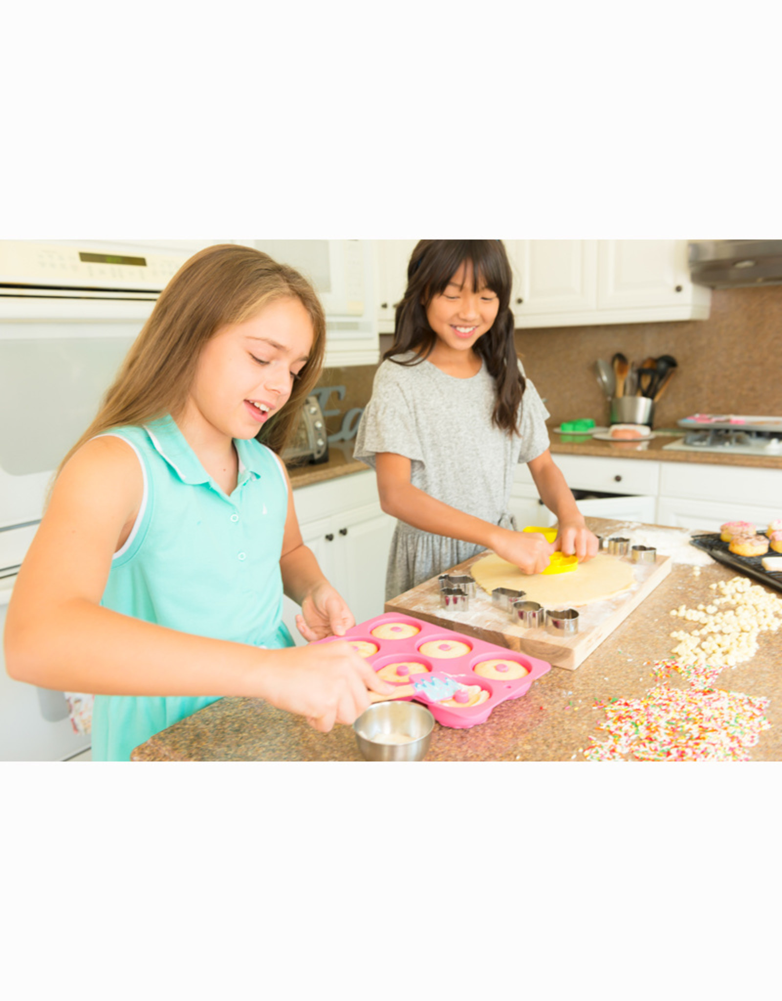 Handstand Kitchen Donut Baking Bundle: Donut Baking Party & Apron Set