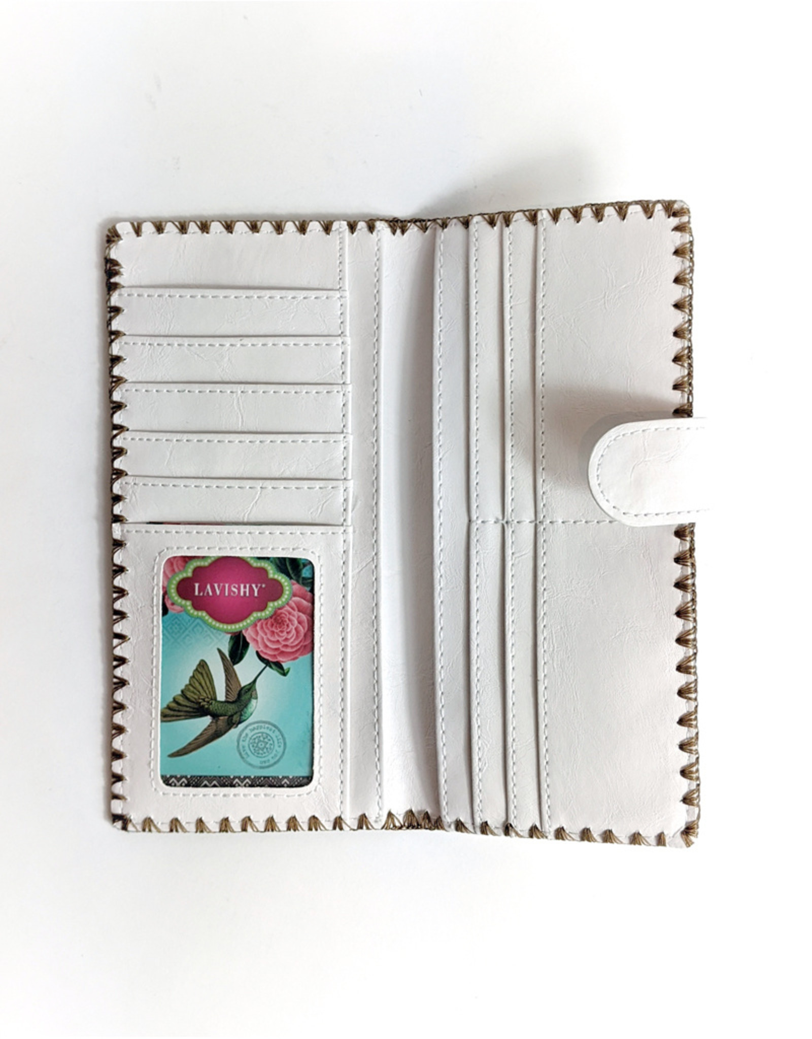Lavishy Lavishy Embroidered Wallet