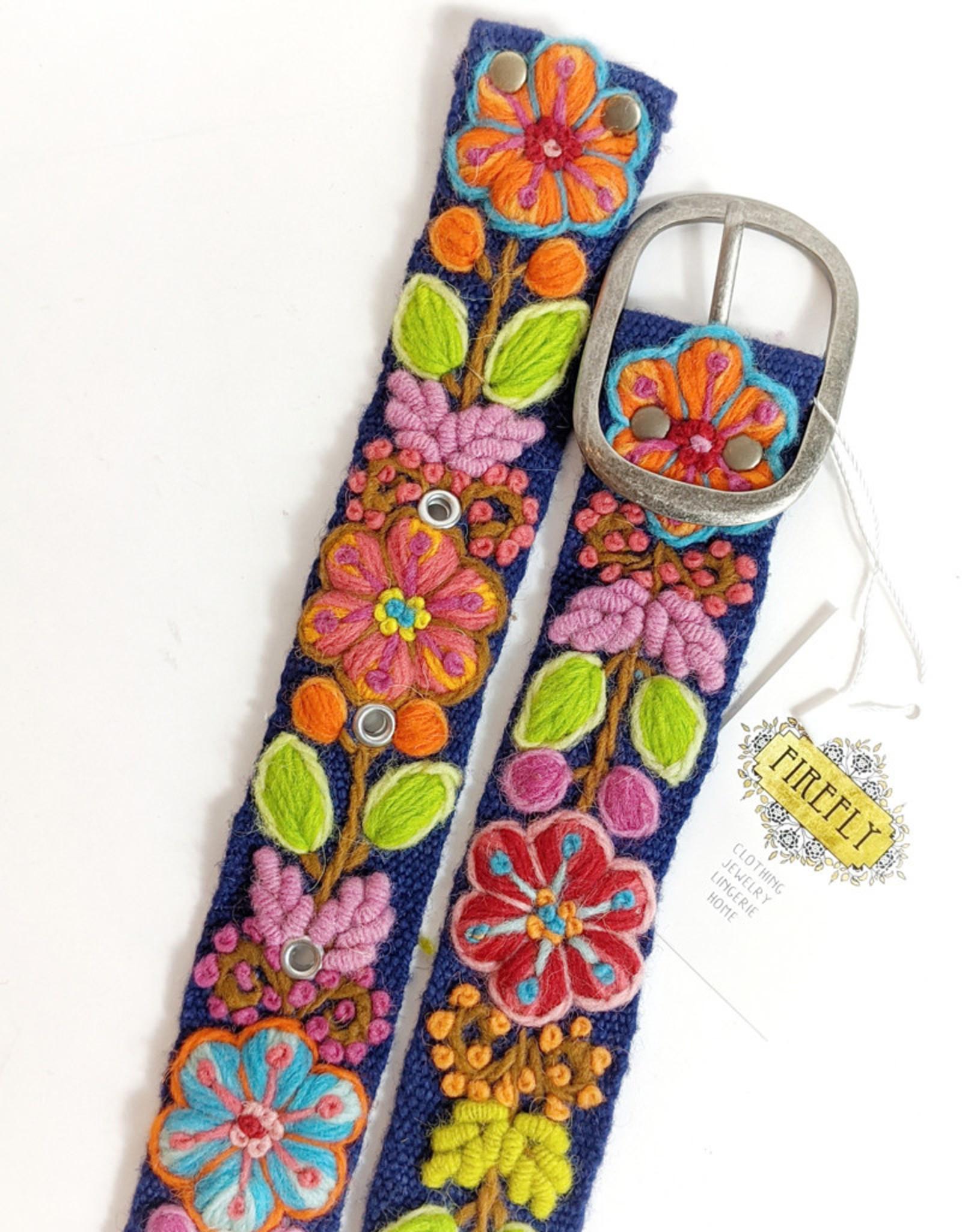 MMPeruvian Embroidered Belt, size Med