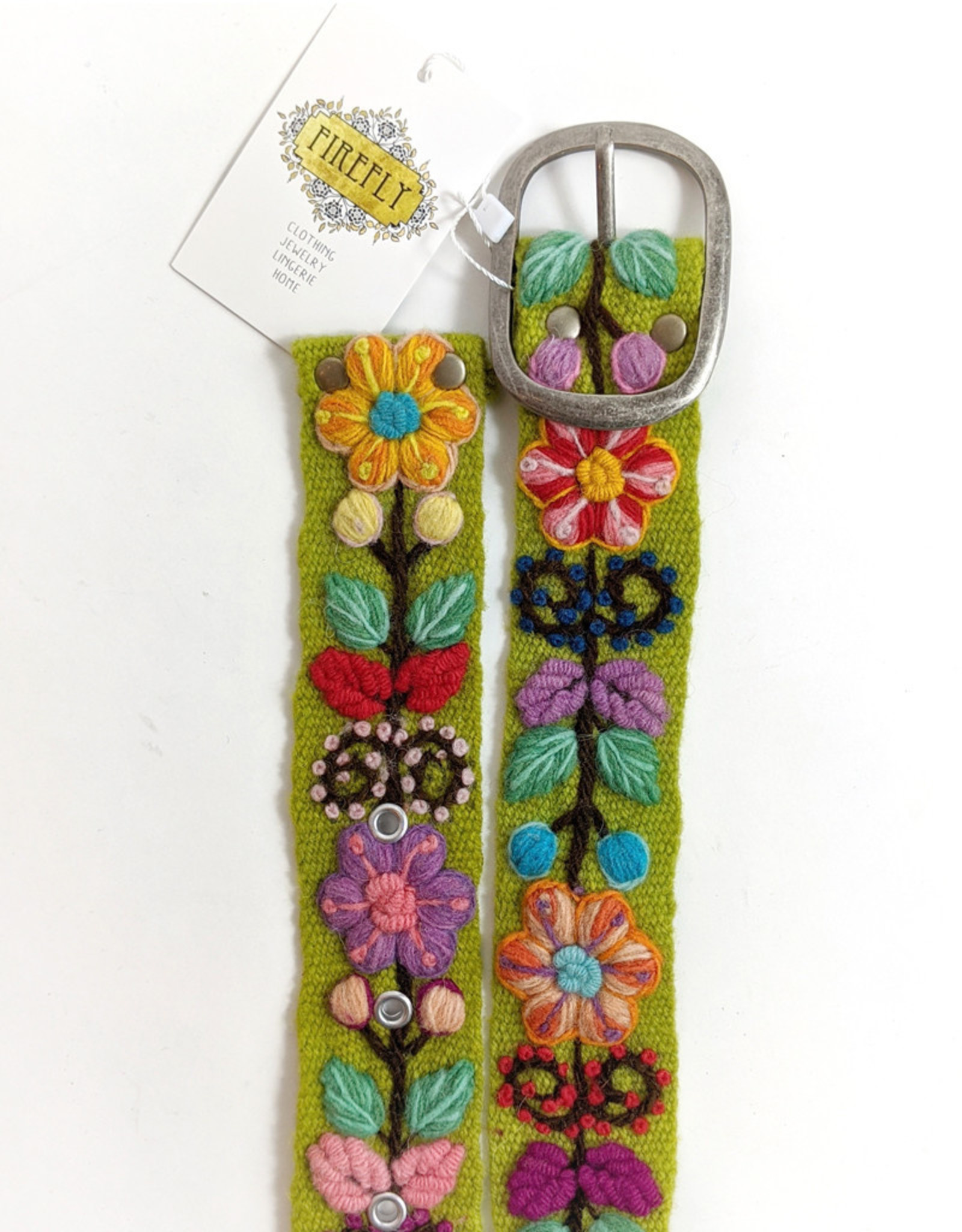 MMPeruvian Embroidered Belt, size Large