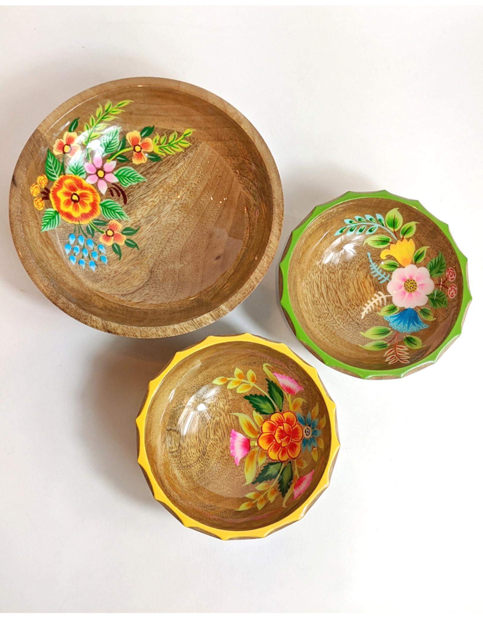 One Hundred 80 Degrees Hand Painted Flower Bowl