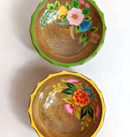 One Hundred 80 Degrees Hand Painted Flower Bowl