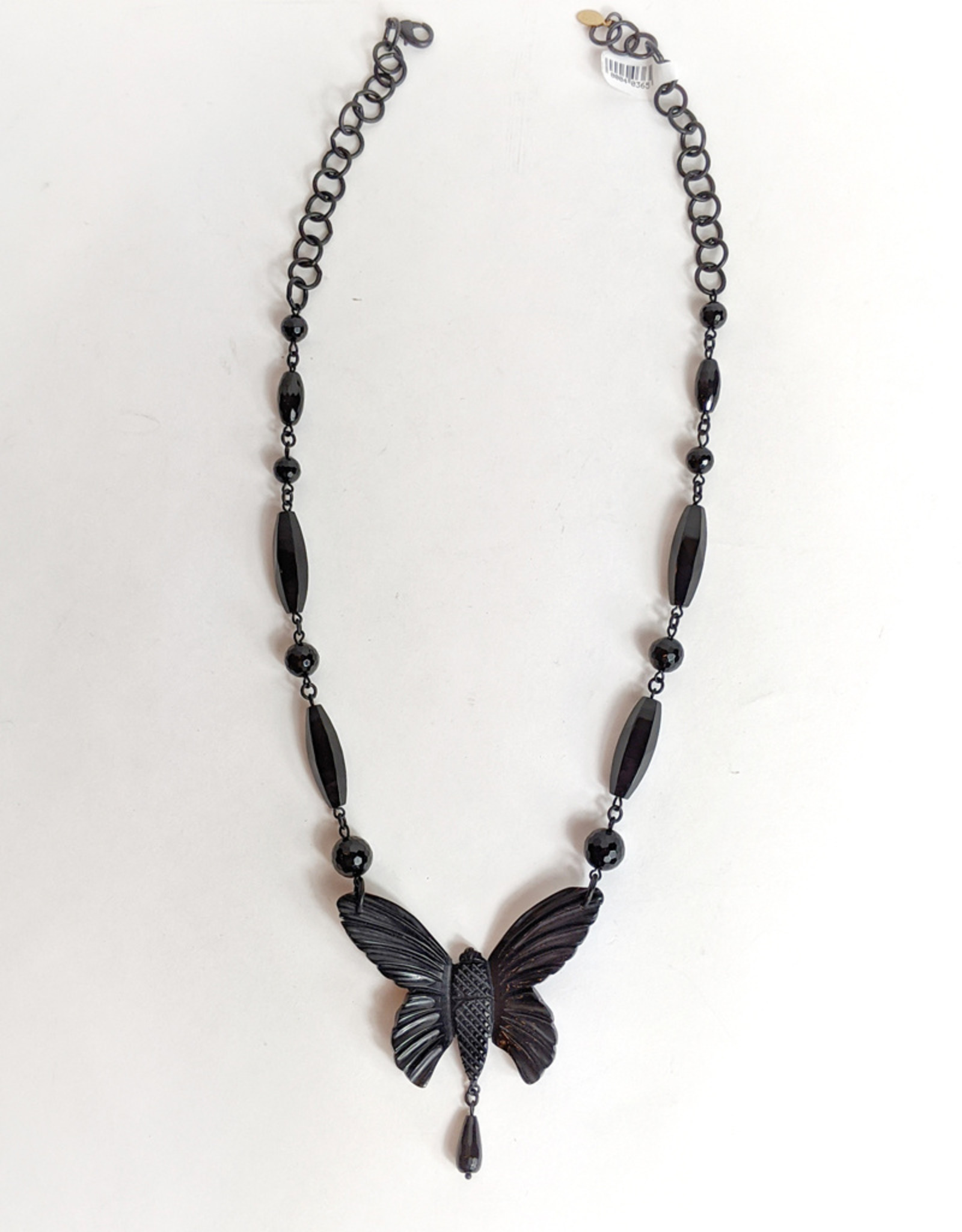 Hotcakes Design Onyx Butterfly Necklace