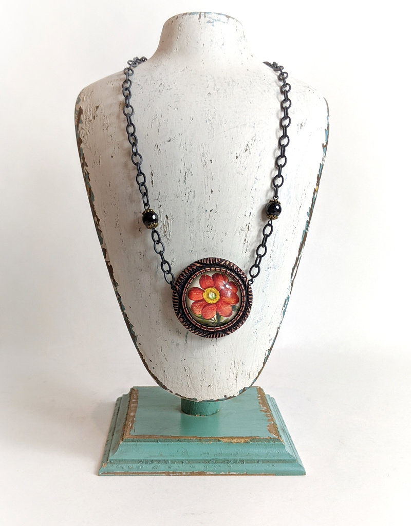 Hotcakes Design Resin Two Tone Necklace
