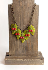 Hotcakes Design Leaf and Cherry Necklace