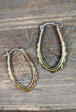 In BlissfulCo Handmade Scalloped Hoops