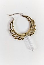 In BlissfulCo Handmade Crystal Wing Hoops