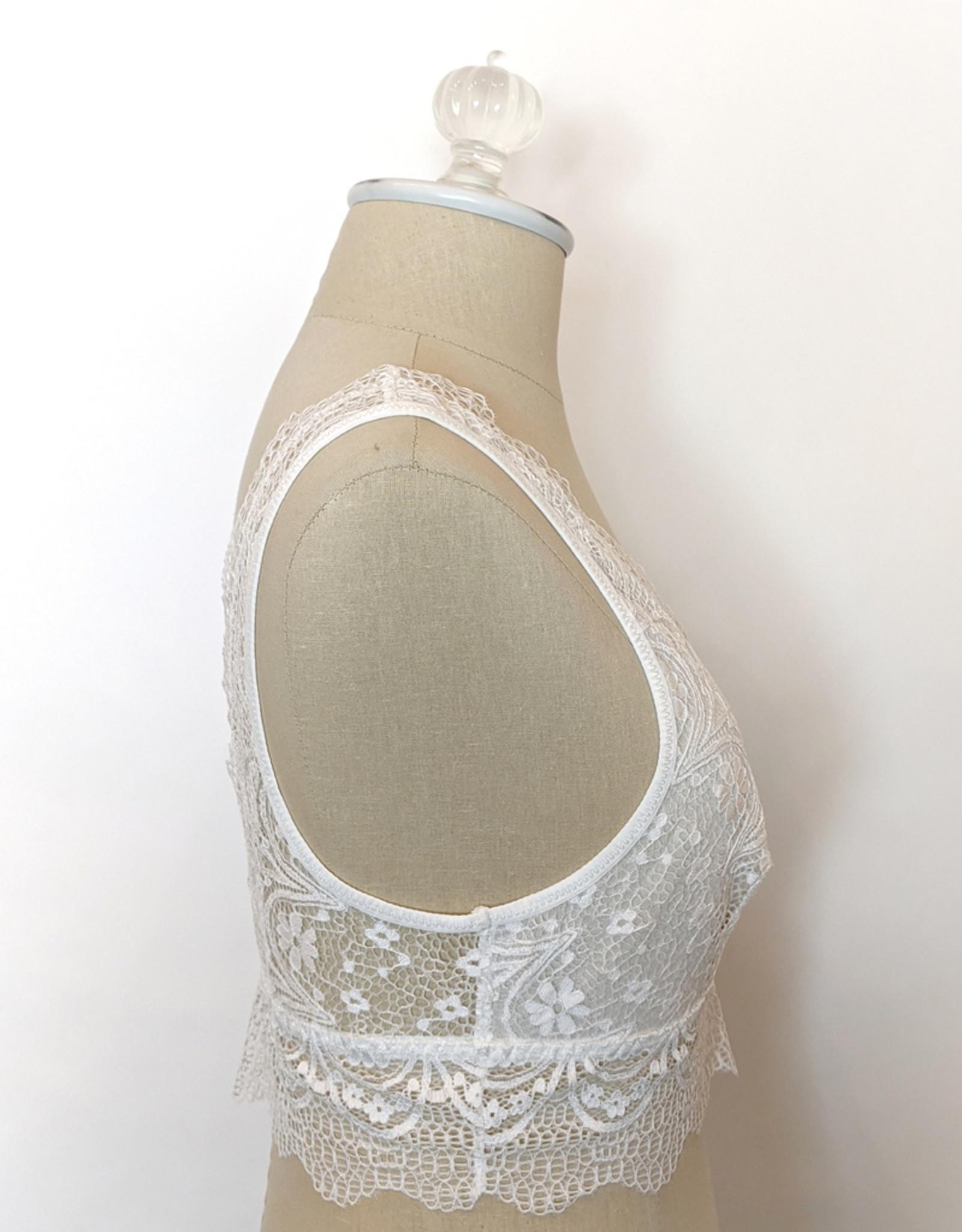 Leto Accessories Alencon Lace Plunge Bralette
