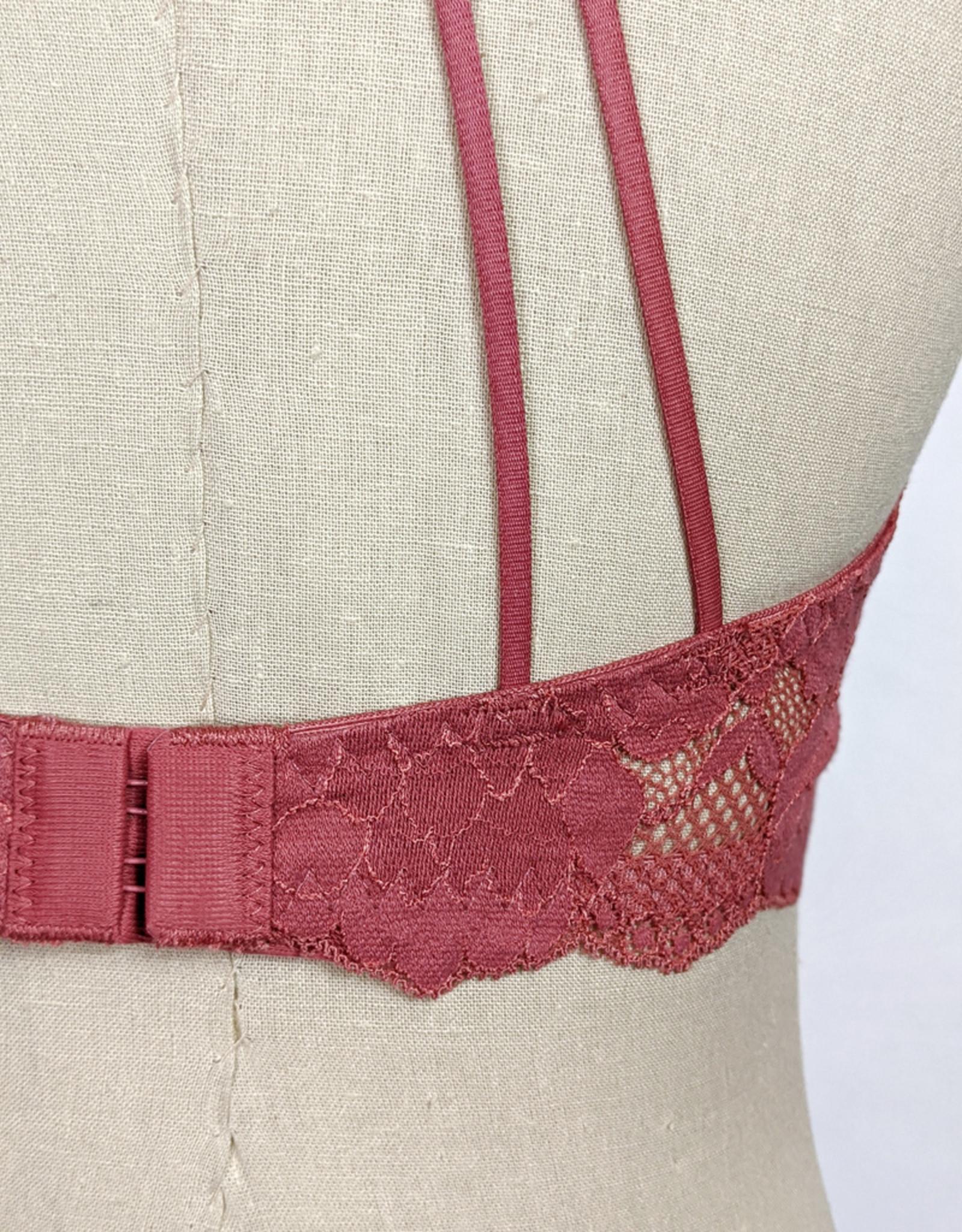 Leto Accessories Lace Strappy Racerback Bralette