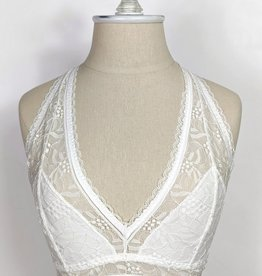 Leto Accessories Geometric Lace Racerback Bralette