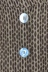 Cotton Candy LA Coffee Print Midi Dress w/Buttons