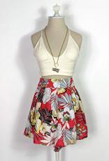 Skylar Madison Red Floral High Waist Shorts