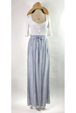 A Beauty Blue Striped Wide Leg Pants
