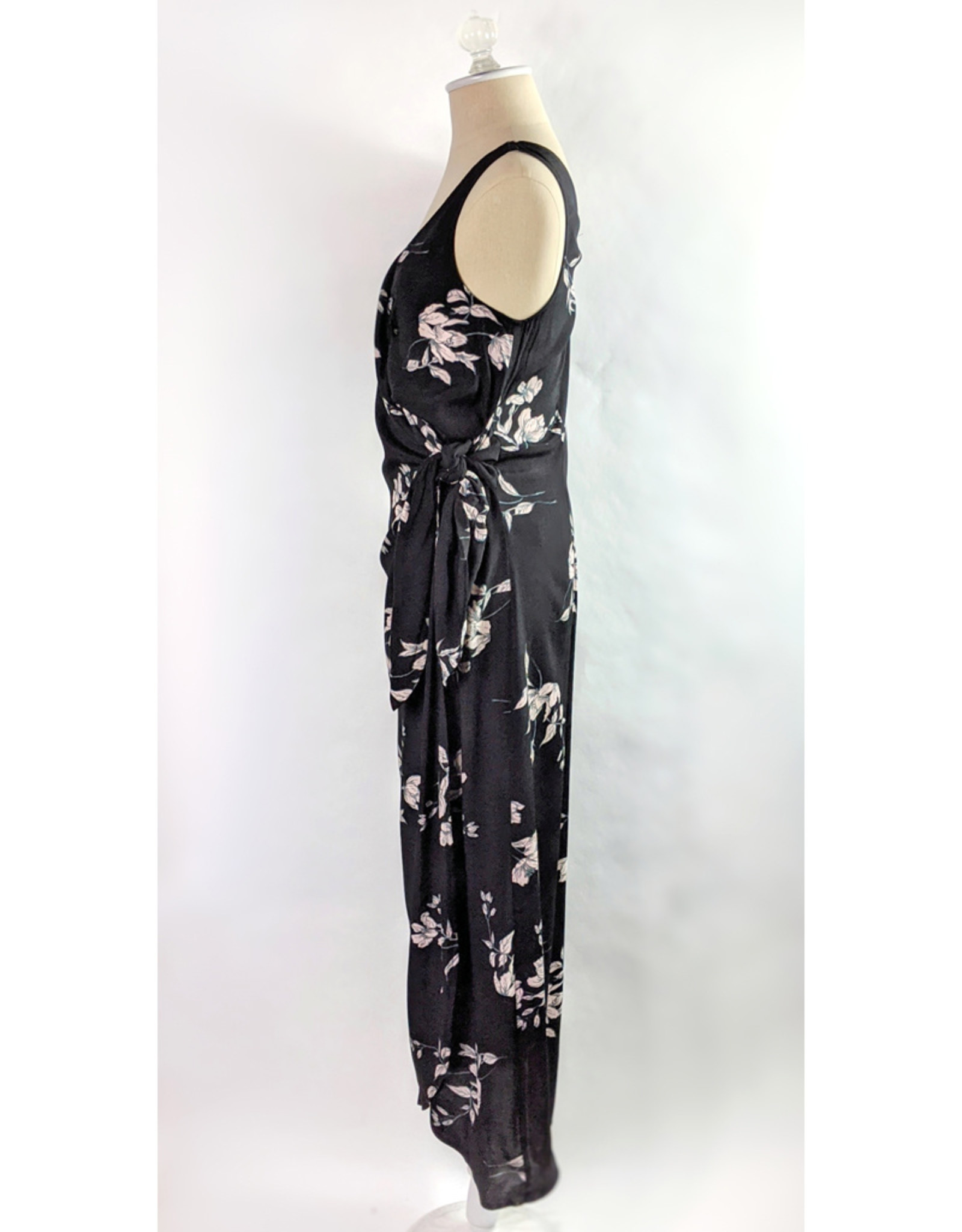 Dress Forum Winter Floral Midi Wrap Dress