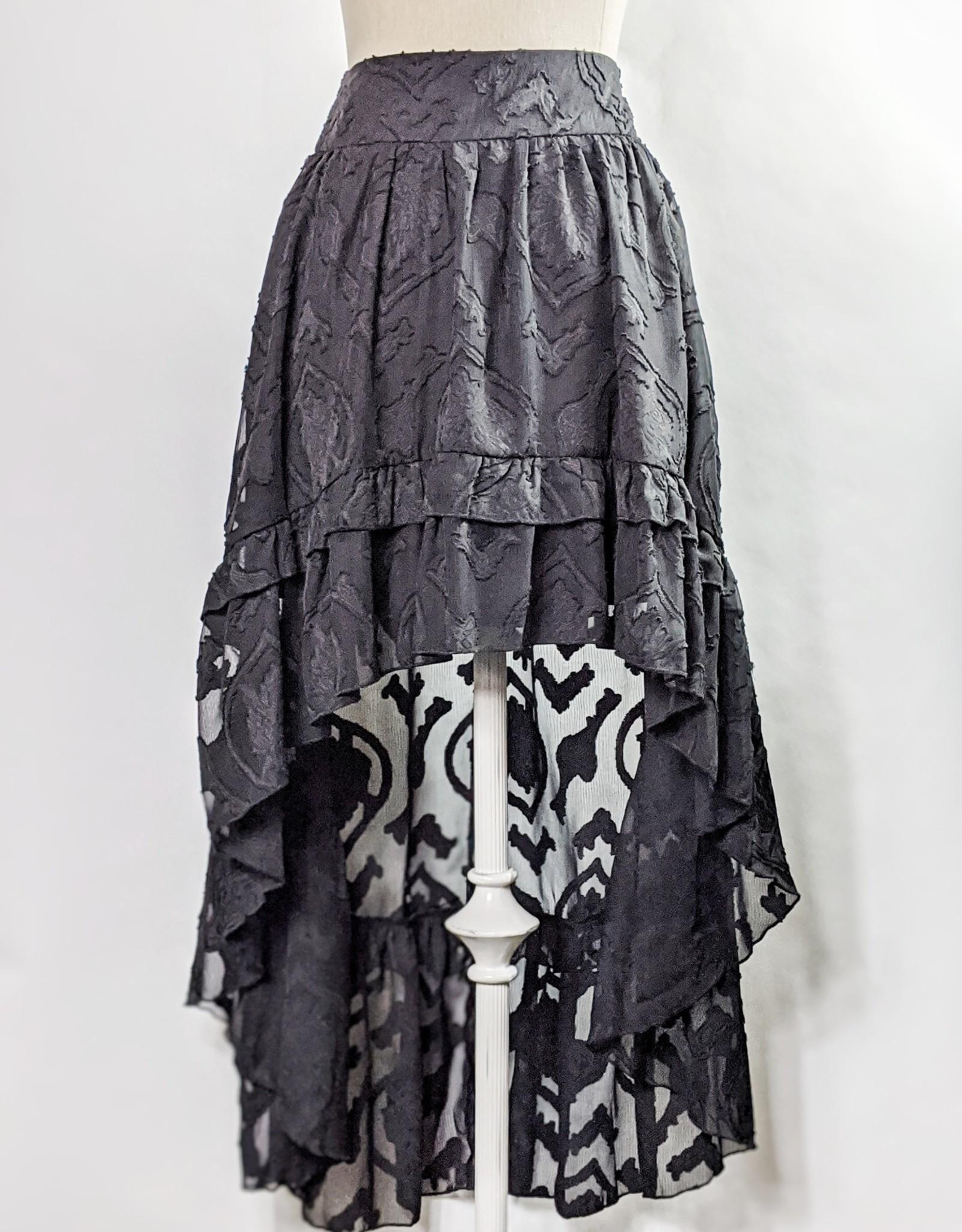 Fanco Sheer Combo High Low Skirt