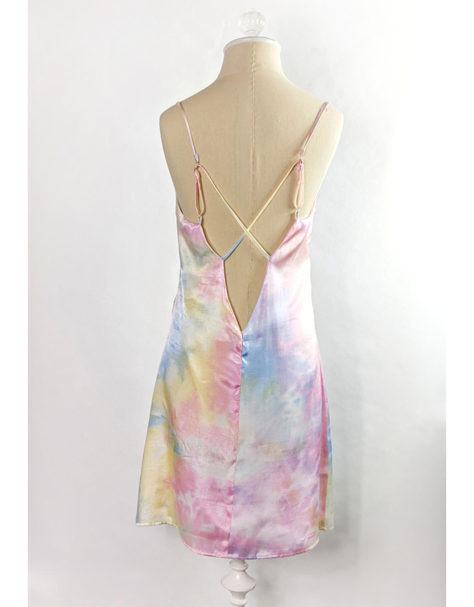 Le Lis Pastel Rainbow Slip Dress