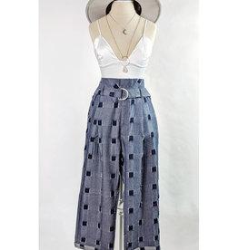 Line & Dot Denim Paper Bag Pants