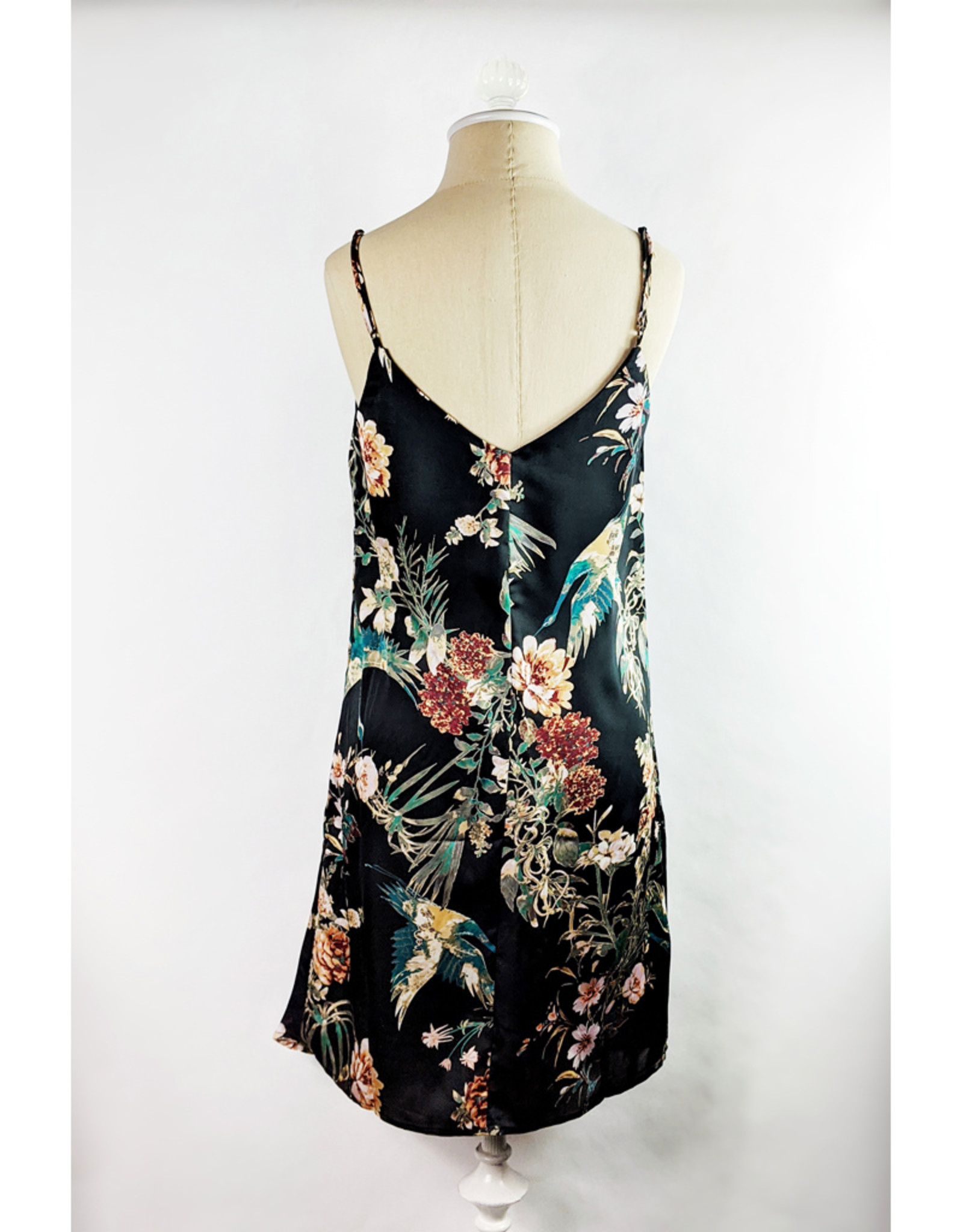 ILLA ILLA Satin Floral Mini Dress